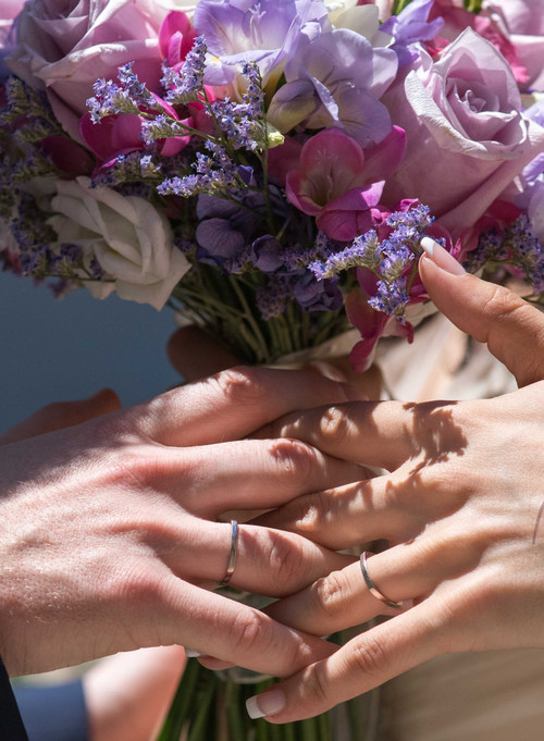 Alizanas el día de la boda