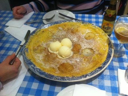 Pancake dulce enorme
