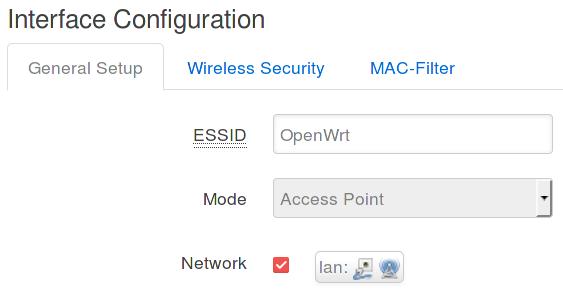 Punto de acceso inalámbrico en OpenWrt