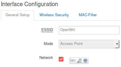 Punto de acceso inalámbrico - OpenWrt