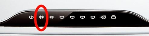 Detalle de luces del router WR841ND