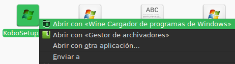 Abrir aplicaciones Windows con Wine